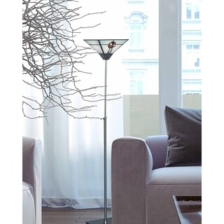 """Dale Tiffany Select 65.5""""H Mack Rose Torchiere Lamp"""