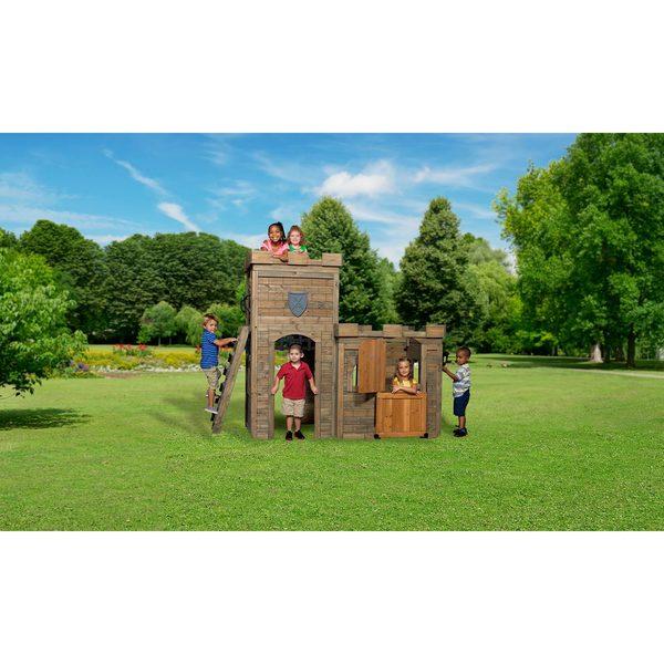 Backyard Discovery Windsor Castle All Cedar Playhouse