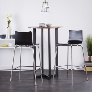 Holly & Martin Danby Bistro Table with 2-piece Black Blence Barstools