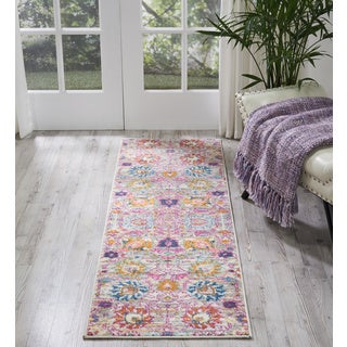Nourison Passion Silver Runner Rug (1'10 x 6')