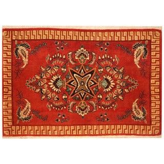 Herat Oriental Persian Hand-knotted Kashan Wool Rug (2'2 x 3'2)