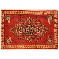 Herat Oriental Persian Hand-knotted Kashan Wool Rug (2'2 x 3'2)