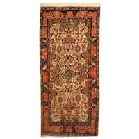 Herat Oriental Persian Hand-knotted Sarouk Wool Rug (1'9 x 3'9)
