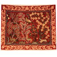 Handmade Herat Oriental Persian Kashan Wool Rug (Iran) - 2'2 x 2'9