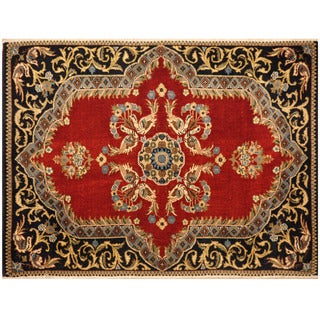 Herat Oriental Persian Hand-knotted Kashan Wool Rug (2'4 x 3'1)