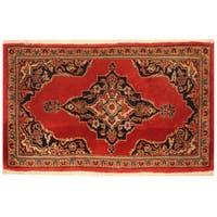 Handmade Herat Oriental Persian Kashan Wool Rug (Iran) - 1'10 x 3'1