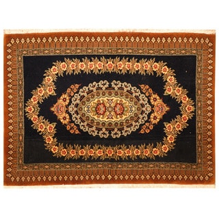 Herat Oriental Persian Hand-knotted Kashan Wool Rug (2'3 x 3'1)