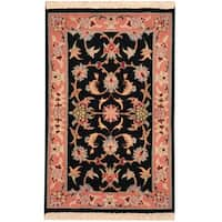 Herat Oriental Persian Hand-knotted Tabriz Wool Rug (1'8 x 2'6)