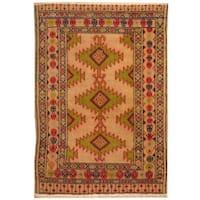 Herat Oriental Persian Hand-knotted Turkoman Wool Rug (2'1 x 2'11)