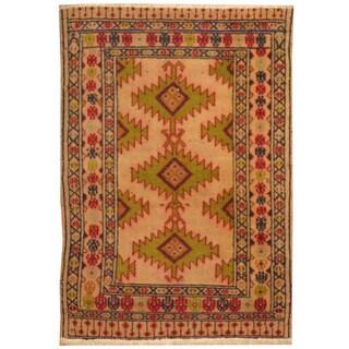 Handmade Herat Oriental Persian Turkoman Wool Rug (Iran) - 2'1 x 2'11
