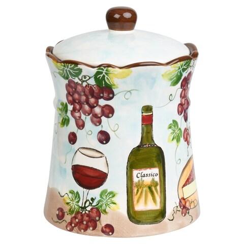Purple Grape Ceramic Cookie Jar