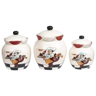 Plump Chef 4 Piece Kitchen Canister Set Free Shipping