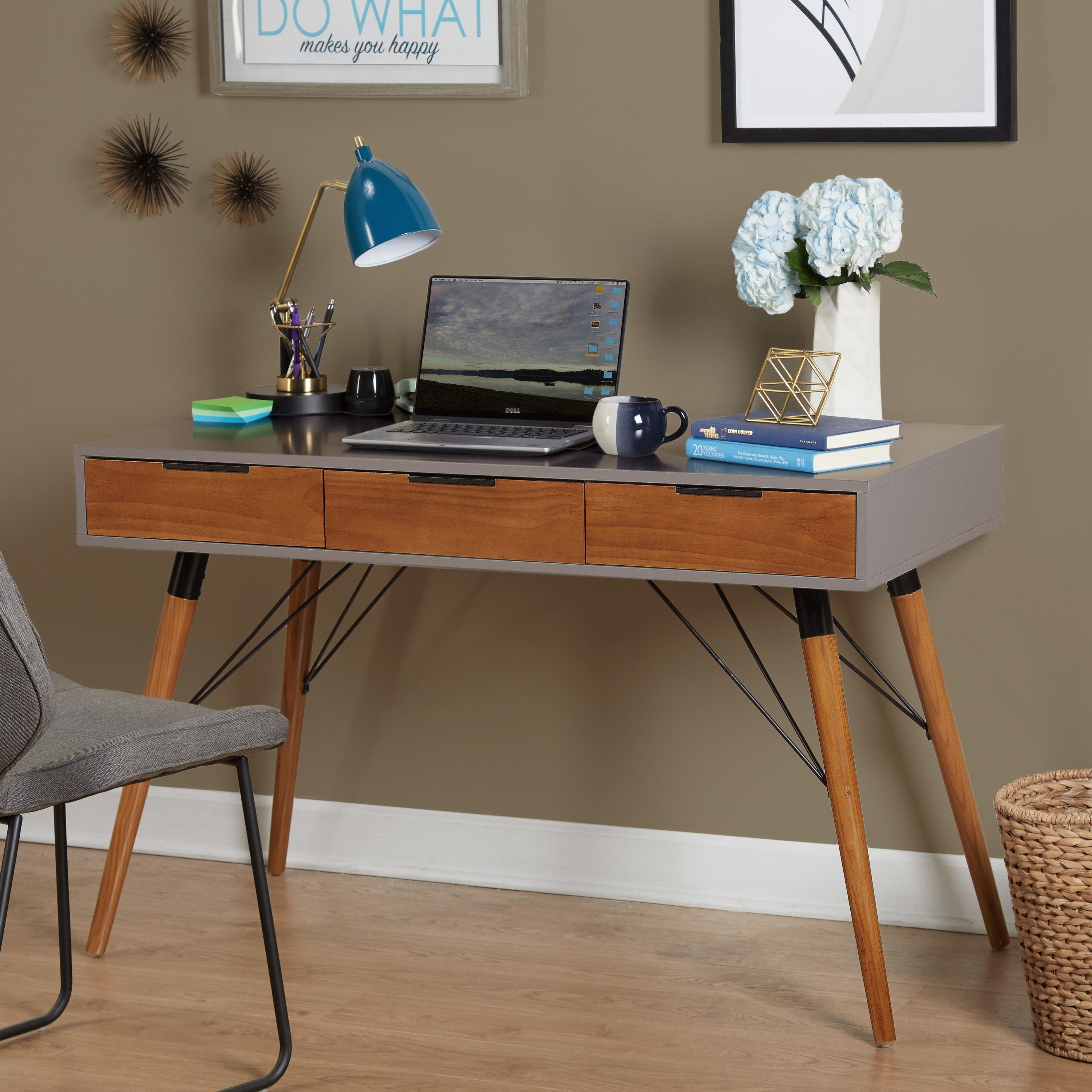 Simple Living Ervin Mid Century Desk On Free Shipping Today 16806958
