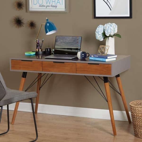 Shop Simple Living Ervin Mid Century Desk On Sale Free Shipping