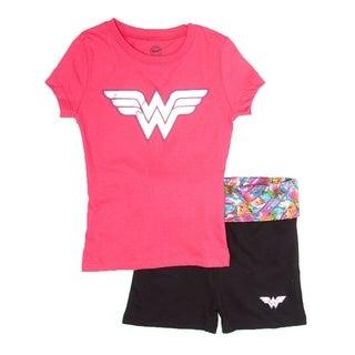 Wonder Woman yoga shorts pajama set