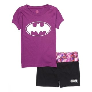 Batgirl yoga short set