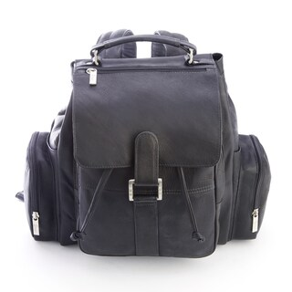 Royce Colombian Leather Expandable Backpack