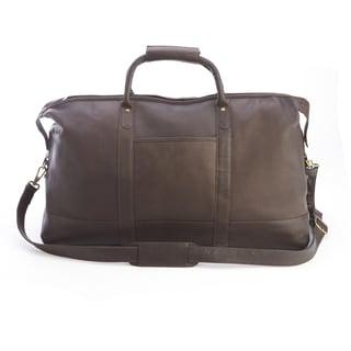 Royce Colombian Leather Luxury Weekender Duffel Bag