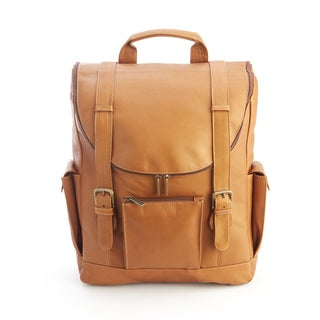 Royce Colombian Leather Backpack with 15-inch Laptop Sleeve
