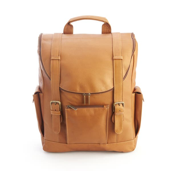 655599c69 Shop Royce Colombian Leather Backpack with 15-inch Laptop Sleeve ...