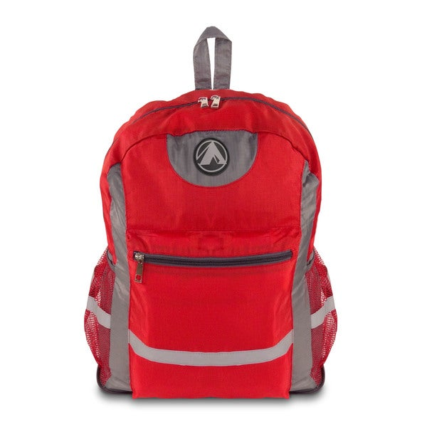 GigaTent Lightweight Foldable Water-Resistant Backpack For Travel, Hiking and camping Red
