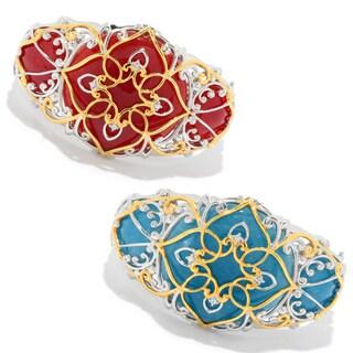 Michael Valitutti Palladium Silver Round Quartzite & White Sapphire Bangle Bracelet