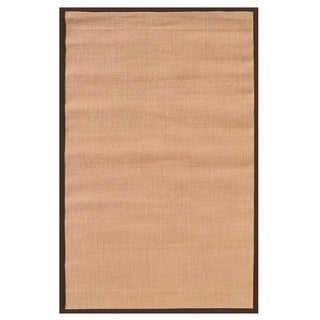 The Rug Market Brown Border Tan Sisal Area Rug (8' x 10')