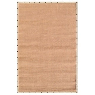 The Rug Market Beige Border with Nail Head Tan Sisal Area Rug (8' x 10')