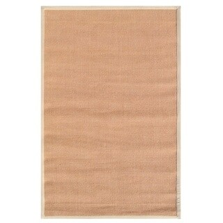 The Rug Market Beige Border Tan Sisal Area Rug (8' x 10')