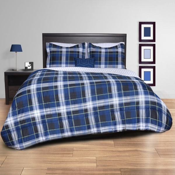 shop plaid bed in a bag on sale free shipping today overstock 16807272. Black Bedroom Furniture Sets. Home Design Ideas