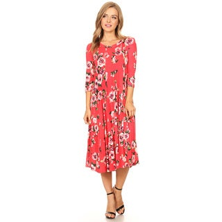 Women's Floral Pattern Paneled Dress