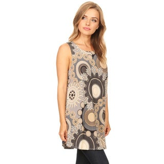 Women's Sleeveless Floral Pattern Top