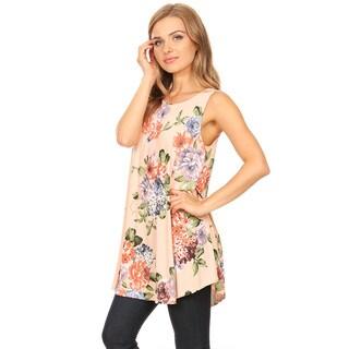 Women's Sleeveless Floral Pattern Top