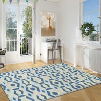 Superior Designer Polygon Area Rug collection (8' X 10') - 8' x 10'