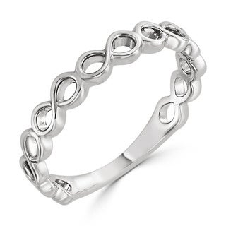 Auriya Women's 10K Gold Stackable Infinity-Inspired Ring