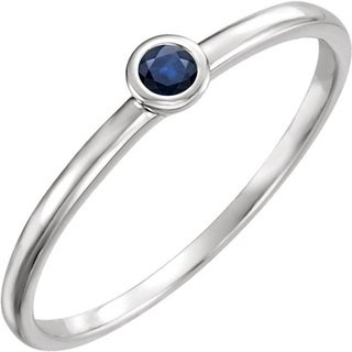 Auriya 0.03ct TDW Petite Ultra-Thin Blue Sapphire Accent Stackable Ring