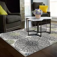 Superior Designer Rosette Area Rug collection - 8' x 10'