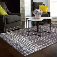 Superior Designer Painted-Stripes Area Rug collection - 8' x 10'