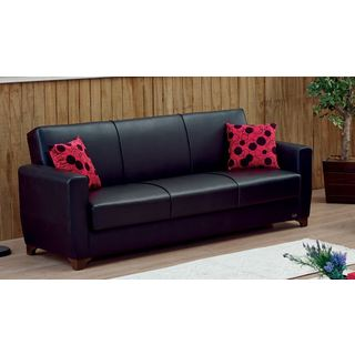 Harlem Convertible Bonded Leather Sofa Bed