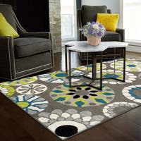 Superior Designer Medallion Area Rug collection (8' X 10') - multi-color - 8' x 10'