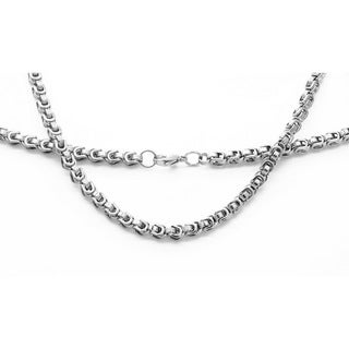 Stainless Steel Mini Byzantine Necklace in 3 colors