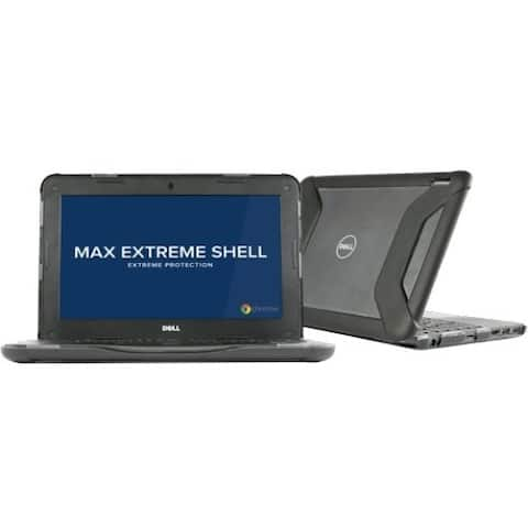 """MAXCases Extreme Shell for Dell 3180 and 3181 Chromebook 11"""" (Black)"""