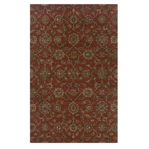 Volare Red Wool Handmade Oriental Area Rug - 8' x 10'