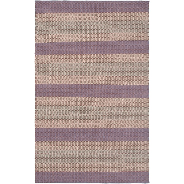 Rizzy Home Handmade Twist Purple Wool Striped Area Rug - 8' x 10'