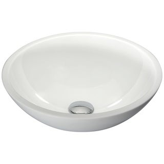 Link to Anzzi Egret Series White Glass Vessel Sink Similar Items in Sinks