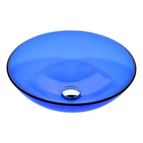 ANZZI Halo Series Vessel Sink in Blue