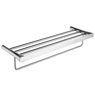 ANZZI Caster 3 Series Towel Rack in Polished Chrome