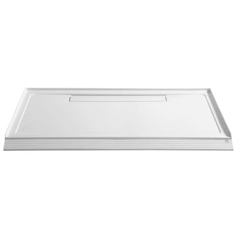 Anzzi Plateau Series White 60-inch x 36-inch Barrier-free Shower Base