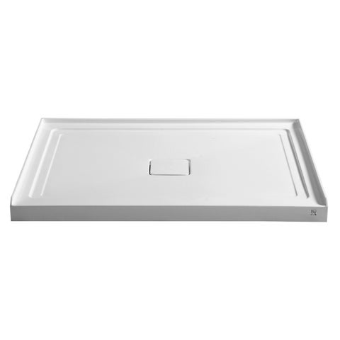 ANZZI Fissure Series 48 in. x 36 in. Single Threshold Shower Base in White