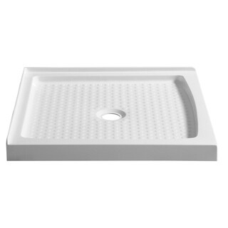 ANZZI Titan Series 36 in. x 36 in. Double Threshold Shower Base in White